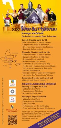 LTC EVENTS ANNONCE : La 19ème Fête du Château des Ducs de Lorraine, à Sierck-lès-Bains,