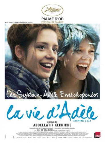 la vie d'adèle ou de miss p.,la vie d'adèle - chapitres 1 et 2,léa seydoux,adèle exarchopoulos,le dernier film d'abdellatif kechiche,cette romance française,qui vire au drame,est librement inspirée de la bd française,de julie maroh,publiée par glénat,en mars 2010,« le bleu est une couleur chaude. »,bd,palme d'or 2013,festival de cannes,2013