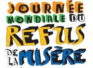 le 17 octobre,c'est la journée mondiale du refus de la misère