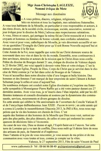 bienvenue à monseigneur lagleize,un nouvel évêque à metz,êvêque de metz,message aux diocésains,jean-christophe lagleize,(alléluia) habemus (enfin) papam,première interview,le républicain lorrain,le pape ouvre l'église,religion catholique,le 20 septembre 2013,vive le pape françois,salve regina,« ma plus belle invention : c'est ma mère,jean xxiii,sa sainteté,le pape,jean dorval,jean dorval pour ltc,jean dorval pour ltc religion,l'ascension,ascension,catholique,et fier de l'être,catholicisme,histoire,jésus,christ,la messe,croire,dieu,centre pompidou-metz,metz,moselle,lorraine,france,europe,ue,union européenne,montée au ciel,ciel,la grâce,divine,divin,la vierge marie,assomption,les anges,le tombeau du christ,ressuscité,jean-paul ii
