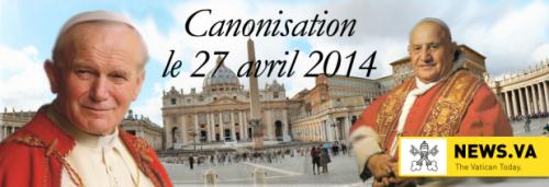 la place saint-pierre de rome,était noire de monde dimanche 27 avril pour la canonisation,de jean paul ii et jean xxiii,le pape françois,