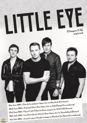LTC LIVE ANNONCE,le Mini Live Tour Europe des Little Eye terminera en apothéose au Luxembourg,