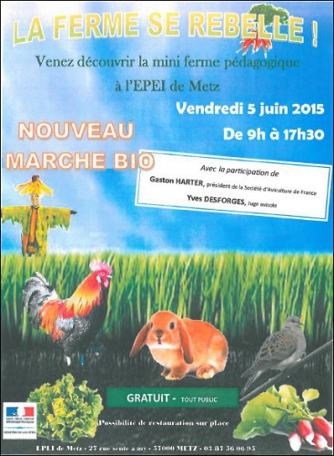 Metz - Sablon : Retour de la ferme se rebelle à l'EPEI !,