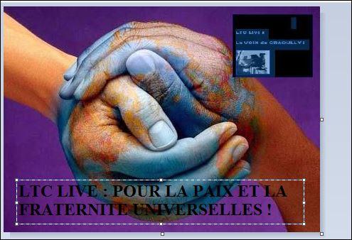 LTC LIVE : POUR LA PAIX DANS LE MONDE ET L'AMOUR DU PROCHAIN !,