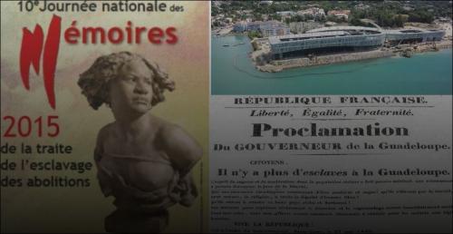 10 mai 2015, commémoration de l'abolition de l'esclavage,en Guadeloupe,inauguration du Mémorial ACTe,