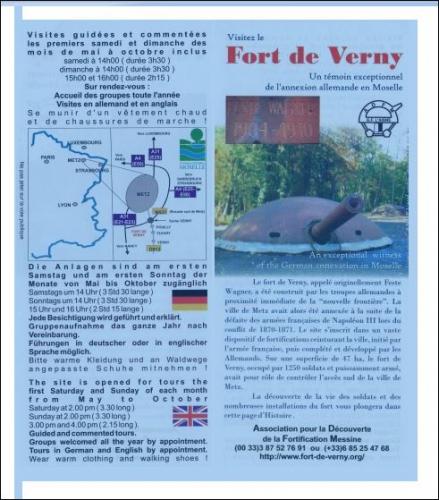 visitez le fort de verny,le témoin excetionnel de l'annexion allemande en moselle se trou,le fort de verny,association pour la découverte de la fortification messine,jean dorval,ltc