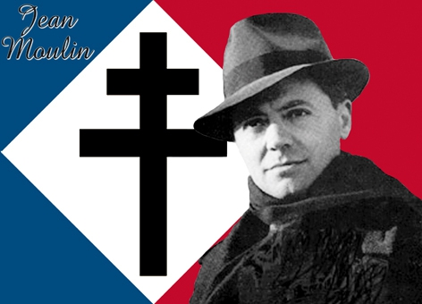 Hommage à Jean Moulin,mort le 8 juillet 1943 à Metz,